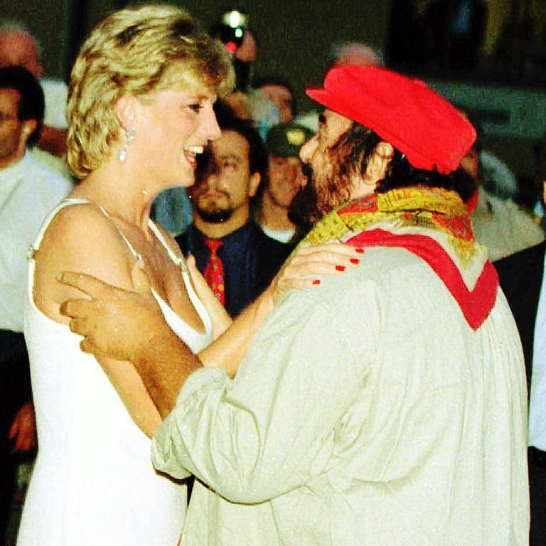 Pavarotti and Princess Diana in 1995.