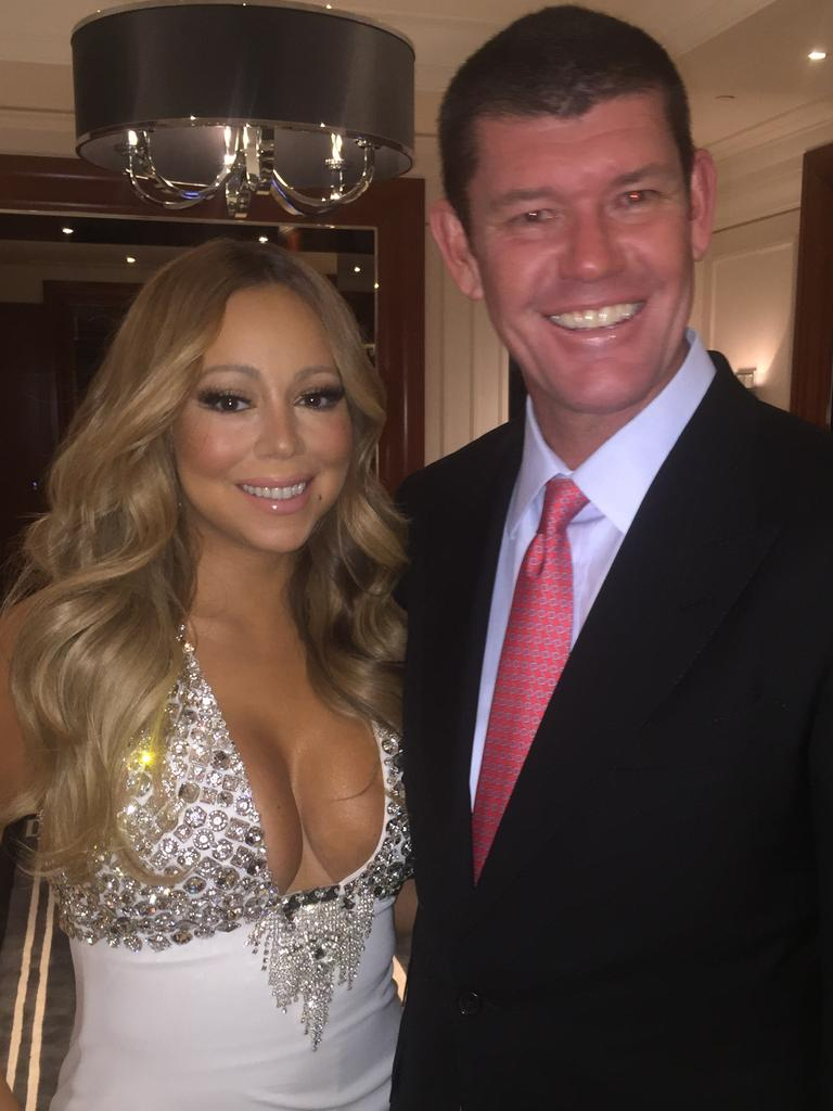 Mariah Carey and James Packer. Picture: Supplied