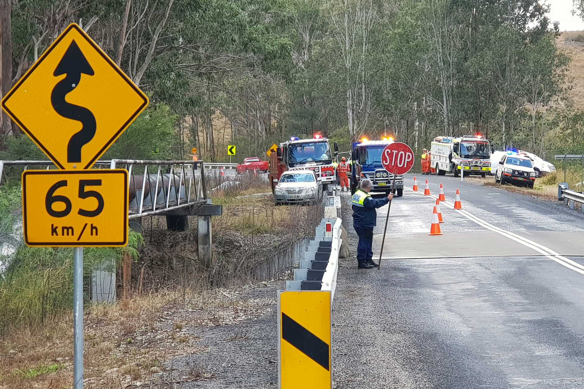A 17-year-old girl died and another woman was taken to Grafton Base Hospital after being trapped following a three car crash on the Armidale Road about 40km south west of Grafton at about 8.30am on Saturday, 15th June, 2019.