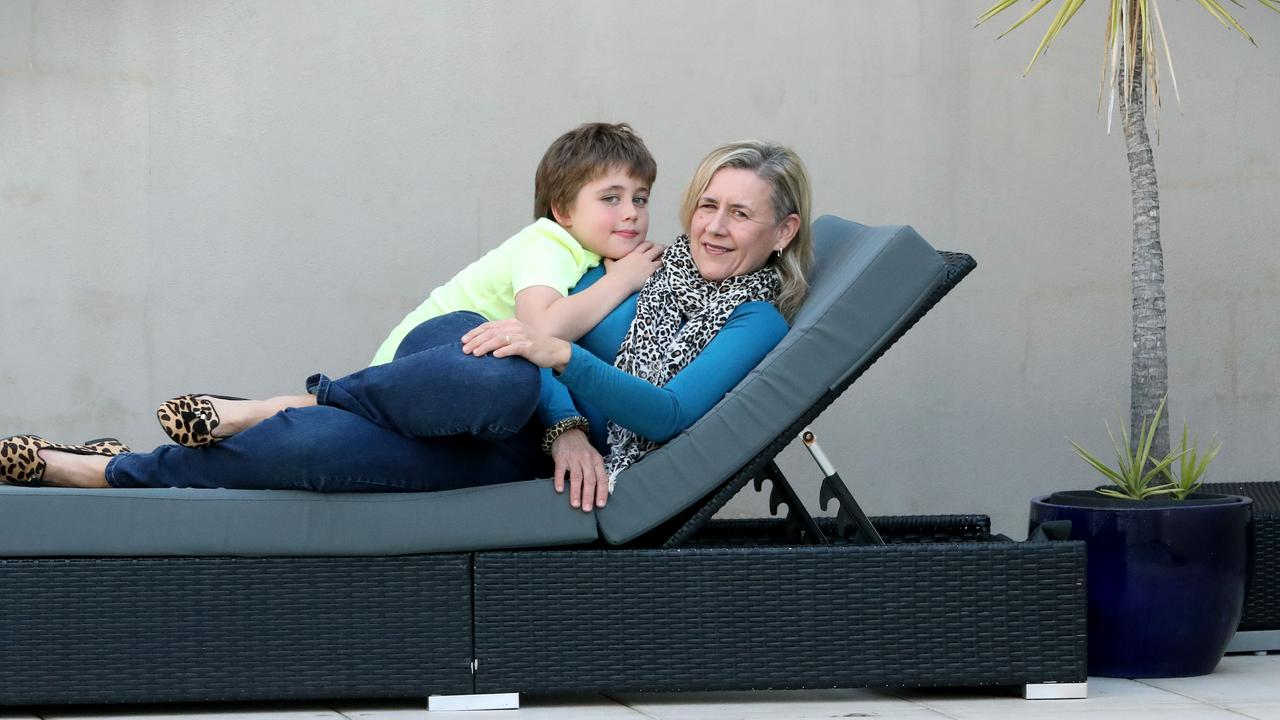 Donna Thistlethwaite with her son Matthew, 9. Picture: Jamie Hanson