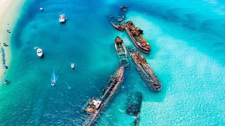 The Tangalooma shipwrecks on Moreton Island are already a hot tourist destination.