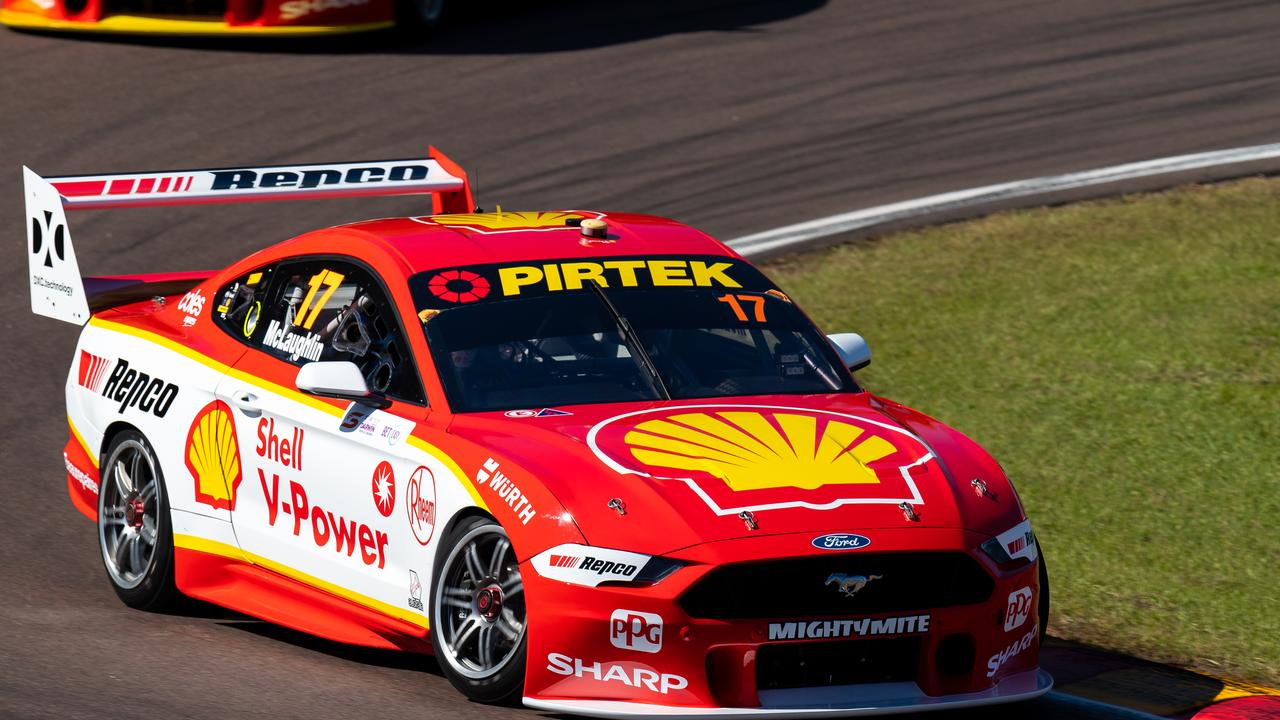 Scott McLaughlin is in line to become the first ever winner of the Darwin 'triple crown'. Picture: Daniel Kalisz/Getty Images