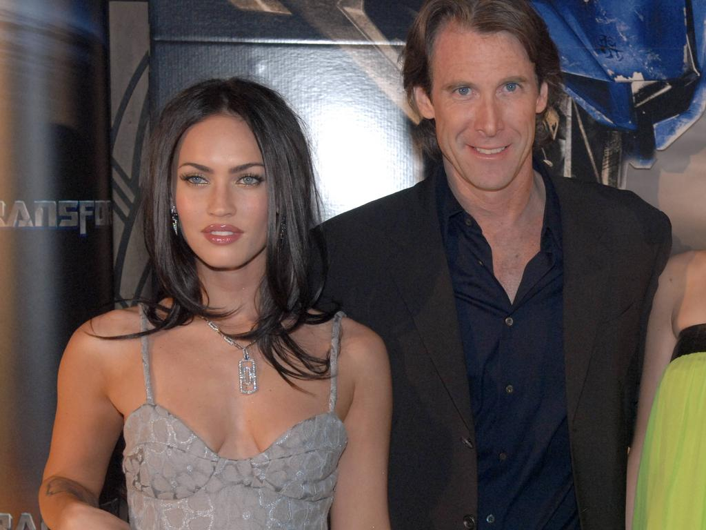 Megan Fox and Michael Bay at the 'Transformers' premiere at the Entertainment Quarter in Sydney.