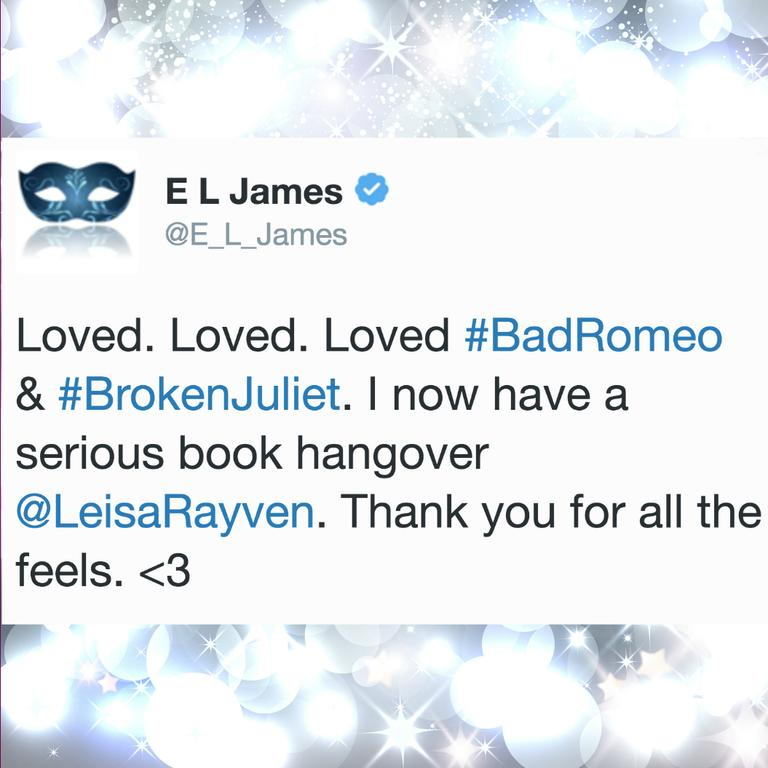 A tweet sent by E.L James.
