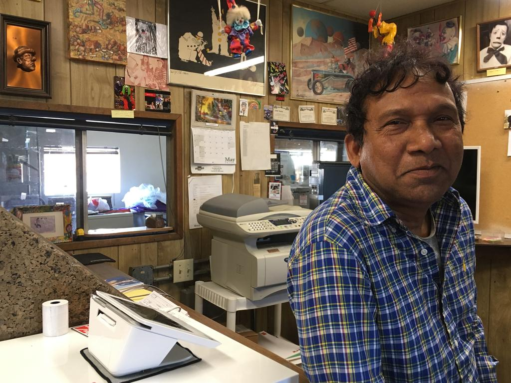Hame Anand is the saviour of the Clown Motel. Picture: Jo Stewart