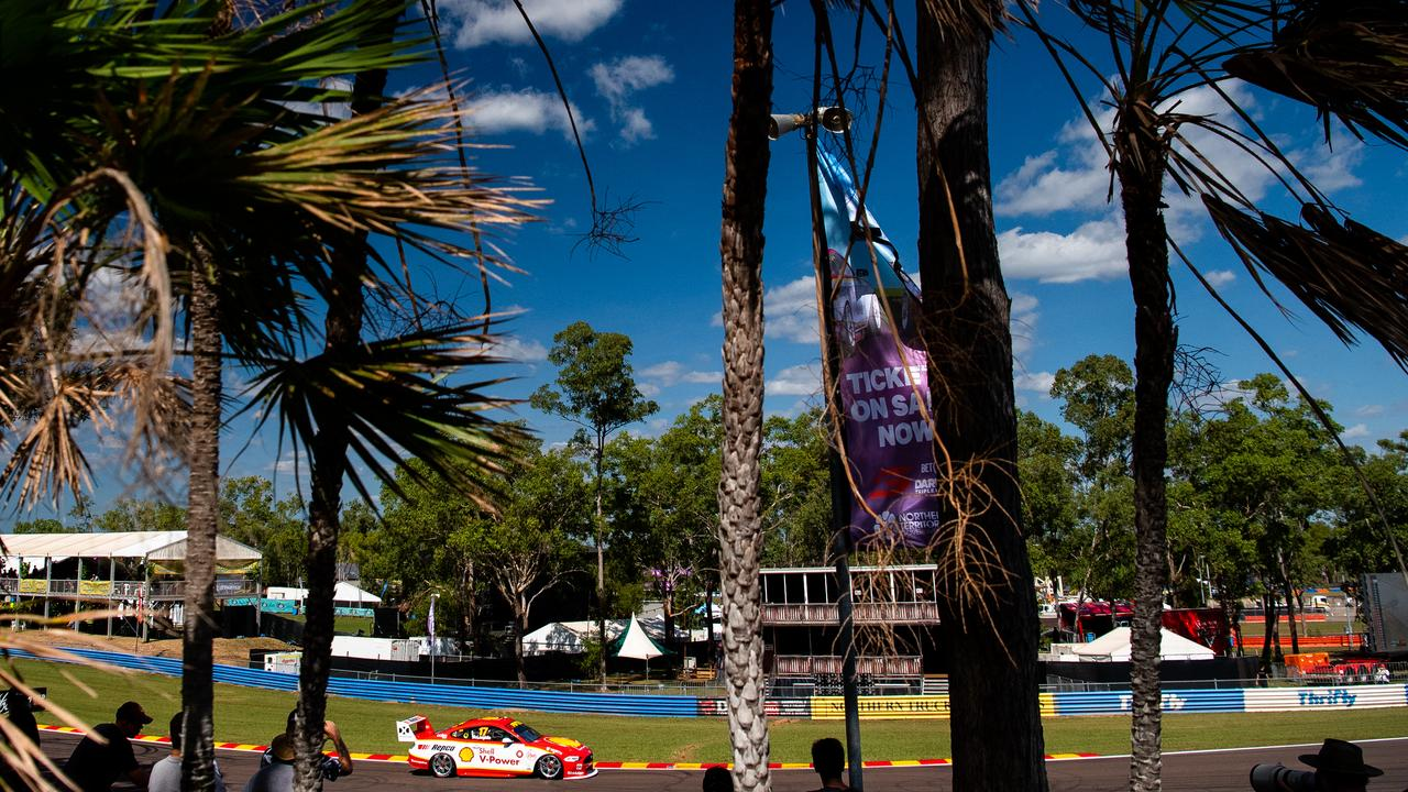 Scott McLaughlin takes to the streets of Darwin. Picture: Daniel Kalisz/Getty Images