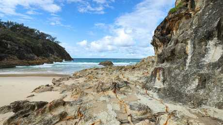South Gorge Beach, on North Stradbroke Island, is an example of the stunning beauty that could lure visitors from around the world to Moreton Bay. Picture: Liam Kidston.