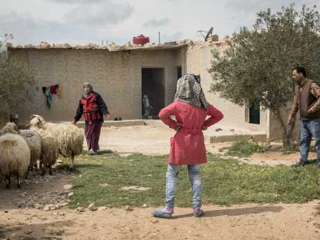 Nadia and Nawaf Al-Hajar have seven children and had to abandon their home in Homs due to the conflict. Picture: Ella Pellegrini