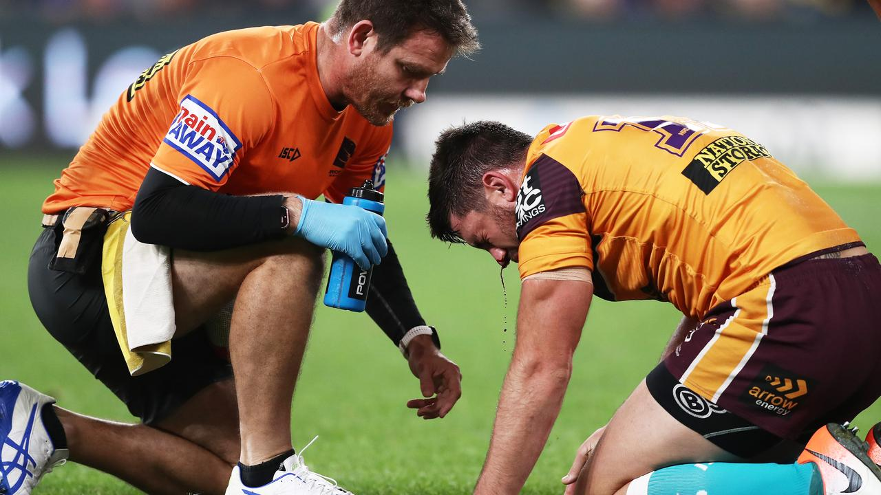 Matt Gillett copped a bloody nose. Image: Matt King/Getty Images