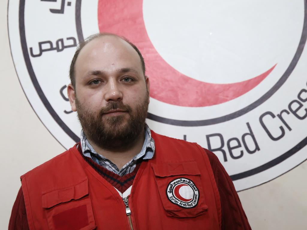 Red Crescent disaster manager co-ordinator Tarek Ashraf in Homs, Syria. Picture: Ella Pellegrini