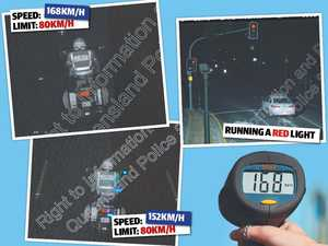 Cops snapped speeding, running red lights