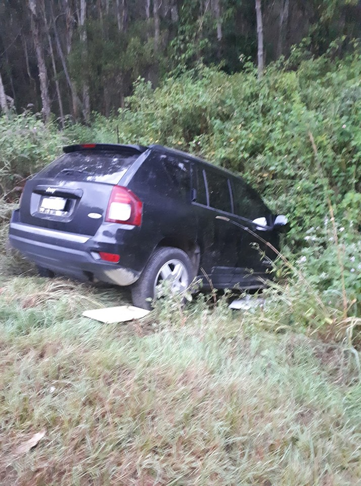 A Jeep believed to have been involved in a carjacking last night has been spotted dumped in the Tweed.