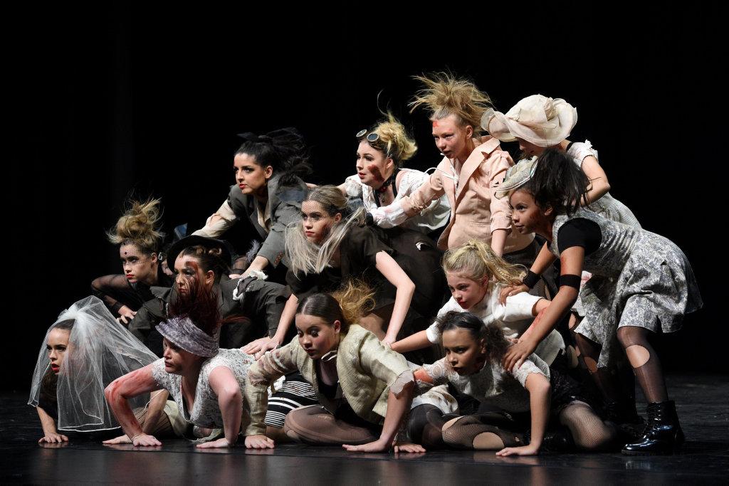 Maryborough Dance Eisteddfod - final session. 15 yrs & Over Novelty/Cabaret Singing optional Group - LA Dance Academy A.