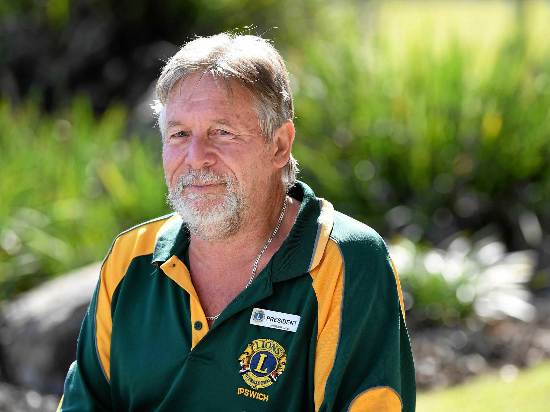 COMMUNITY MINDED: Ipswich Lions Club president Jim Wright has received the Melvin Jones Award.