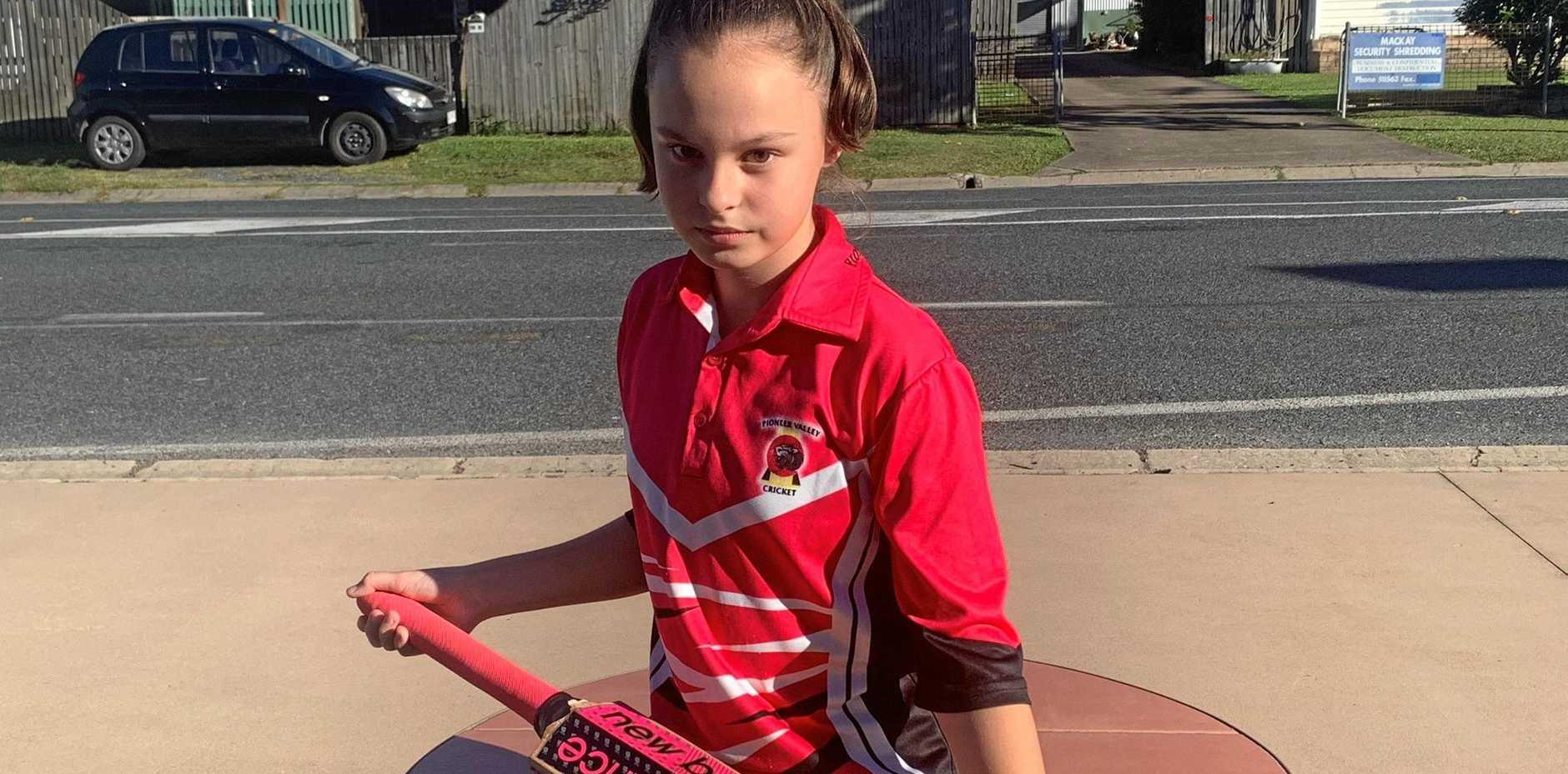 Pioneer Valley Cricket Club Heat Girls League player Eeden Thompson, 12.
