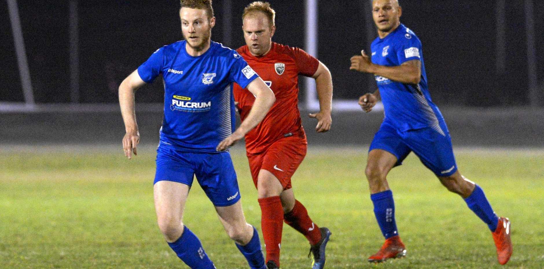 FOOTBALL CQ PREMIER LEAGUE: Bluebirds United's Liam McLean