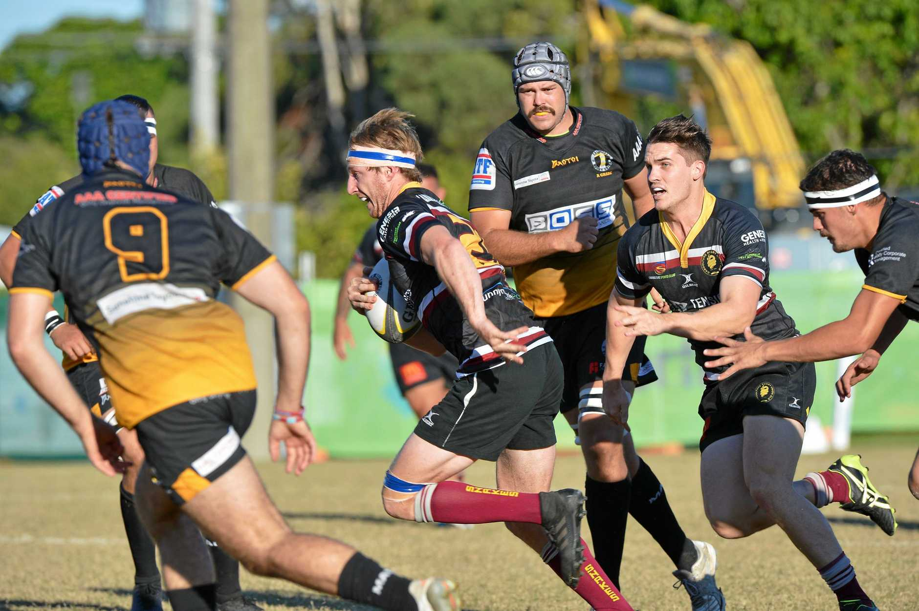ON THE RUN: Caboolture and Caloundra played in a Sunshine Coast A-grade game.