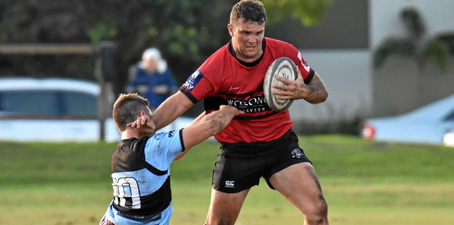 PIONEER POWER: Wollongbar-Alstonville No 8 Alex Gibbon proved a handful for Ballina on Saturday.