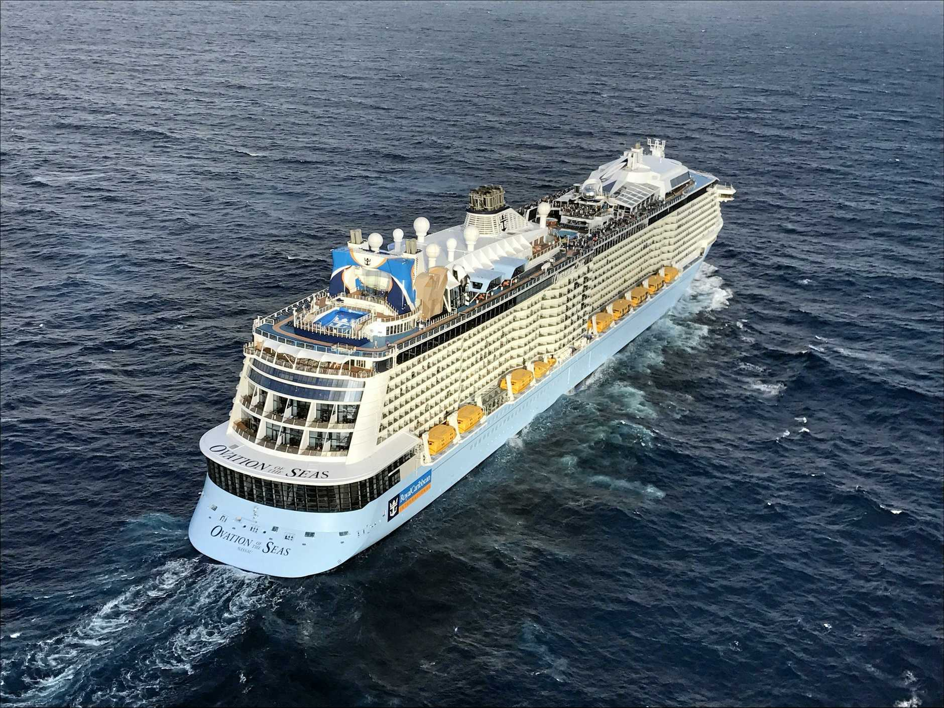 The Ovation of the Seas is the largest cruise ship ever to sail in Australian waters.