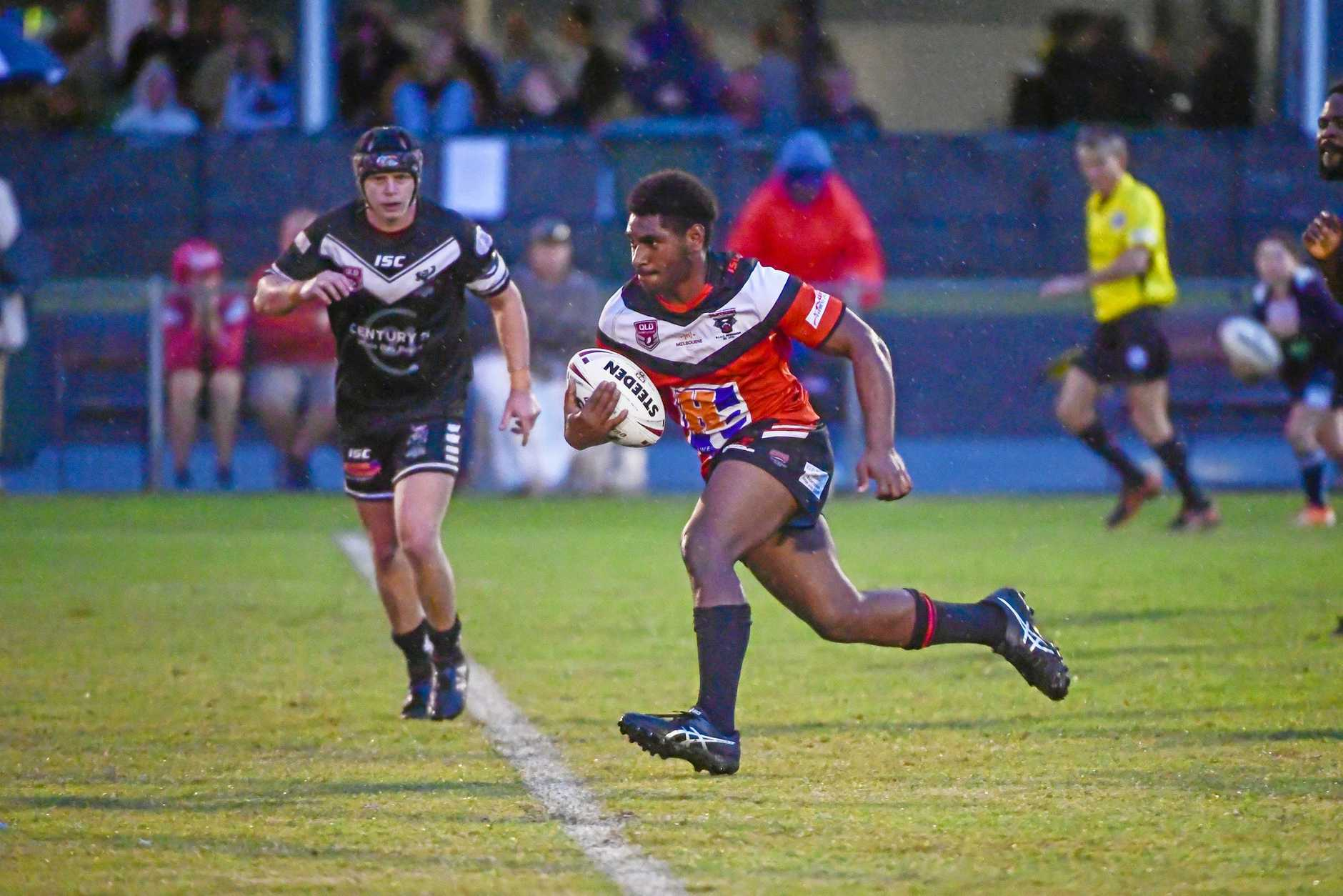 ON ATTACK: Western Suburbs player Livingstone Lingawa, in action last week, scored two tries on Saturday.