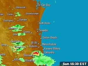 Storms and showers tracking towards the Coast
