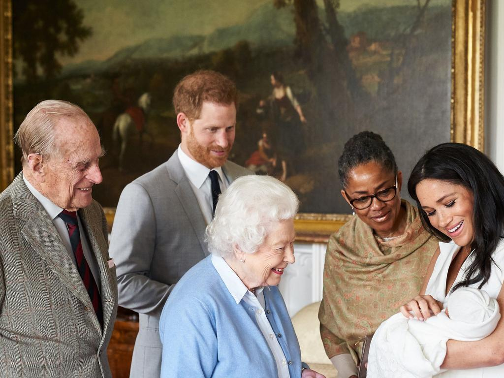 Archie meets the family. Picture: SussexRoyal via Getty Images