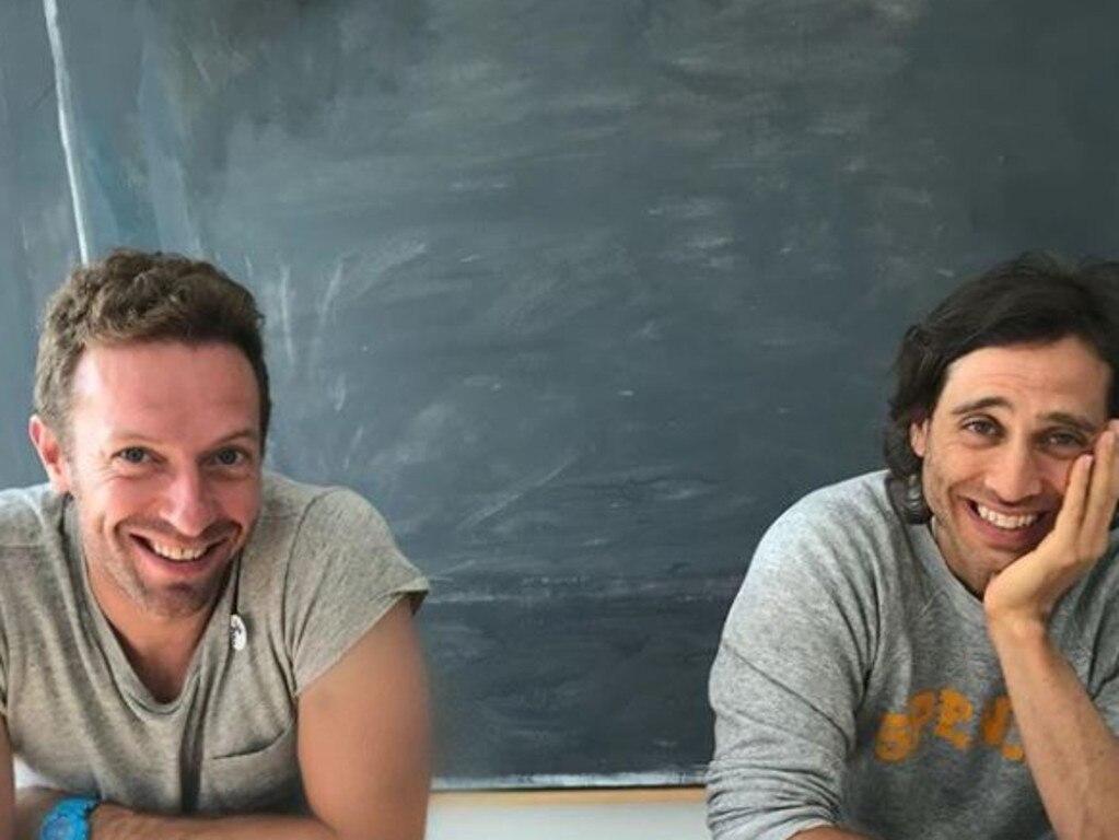 Chris Martin (L) and Brad Falchuk (R). Picture: Instagram
