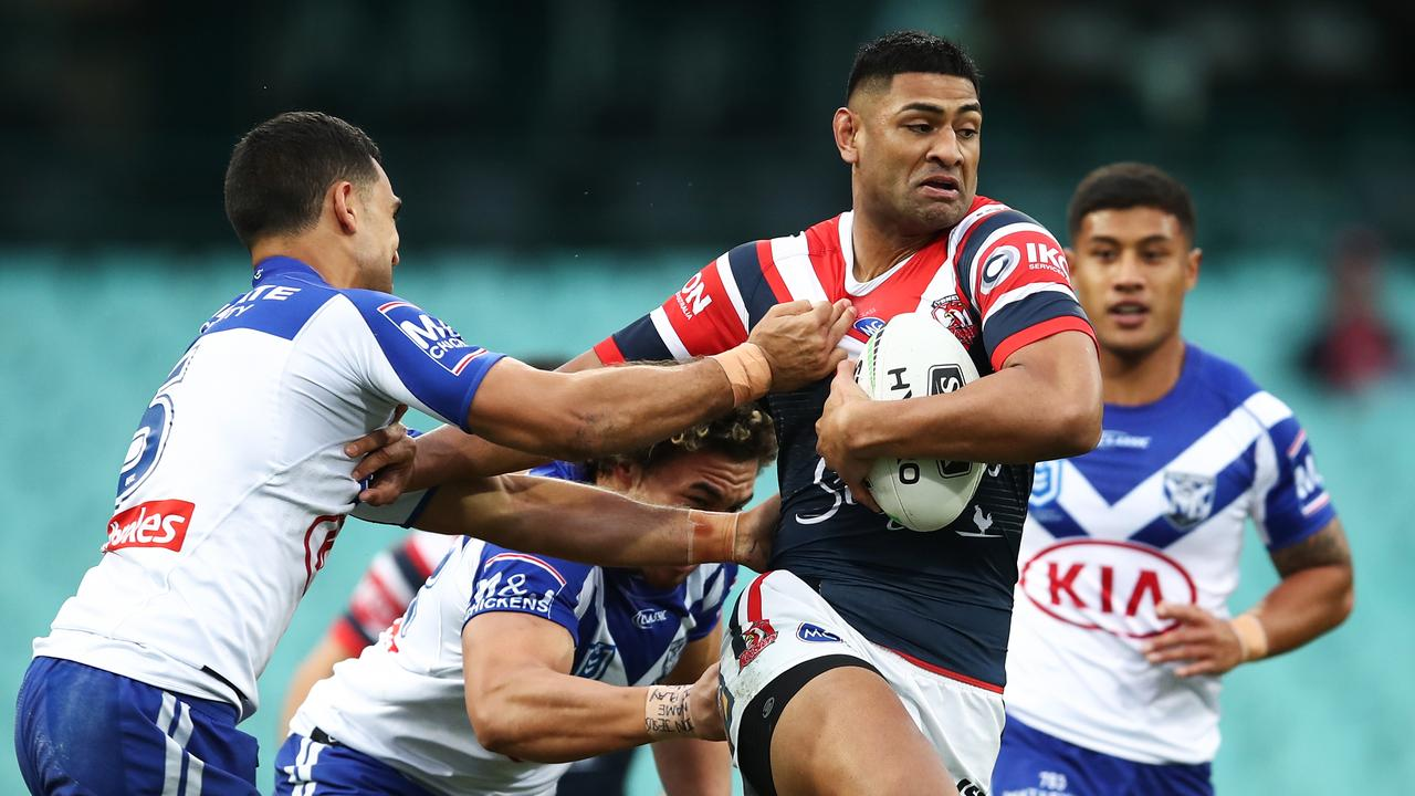 Daniel Tupou impressed on the wing for the Roosters. Picture: Brendon Thorne