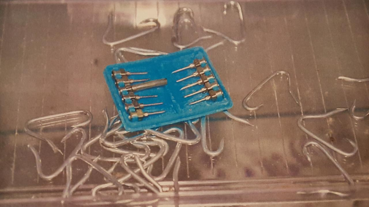 Some of the nails used by Davine to escape. Picture: SAPOL