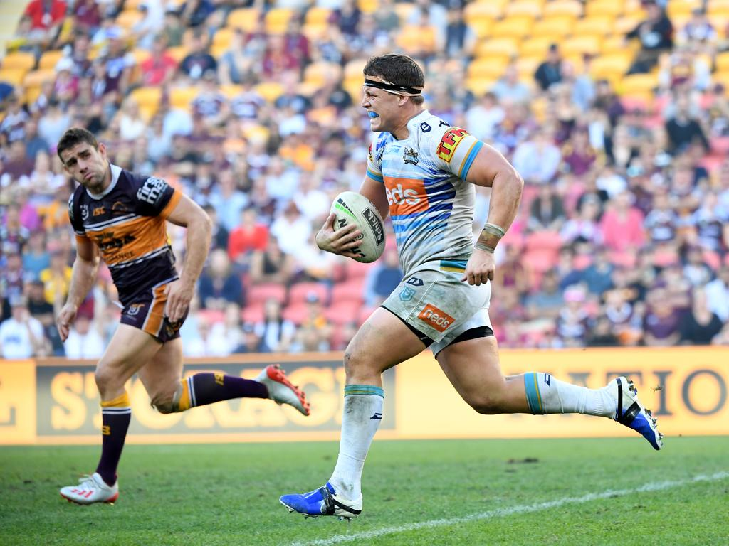 Jarrod Wallace of the Titans may be rewarded with an Origin recall. Picture: AAP Image/Dave Hunt