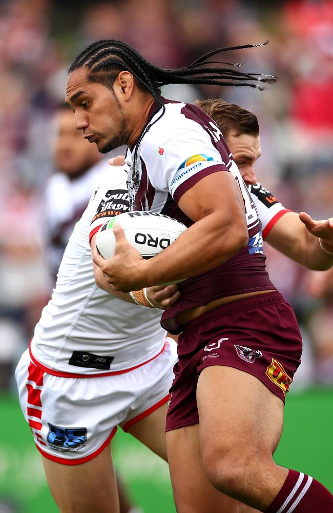 Marty Taupau put in a typically strong performance. Picture: Cameron Spencer