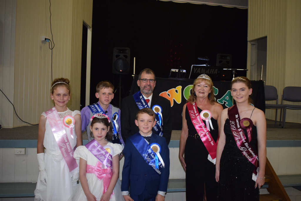 Image for sale: Back: Junior Princess Alicia Creed, Junior Prince Tallis Shields, Prince Lester Boyle, Queen Sandra Ahchay, Princess Kira Connor. Front: Miniature Princess Myia Josefski and Minature Prince Joe McCabe.