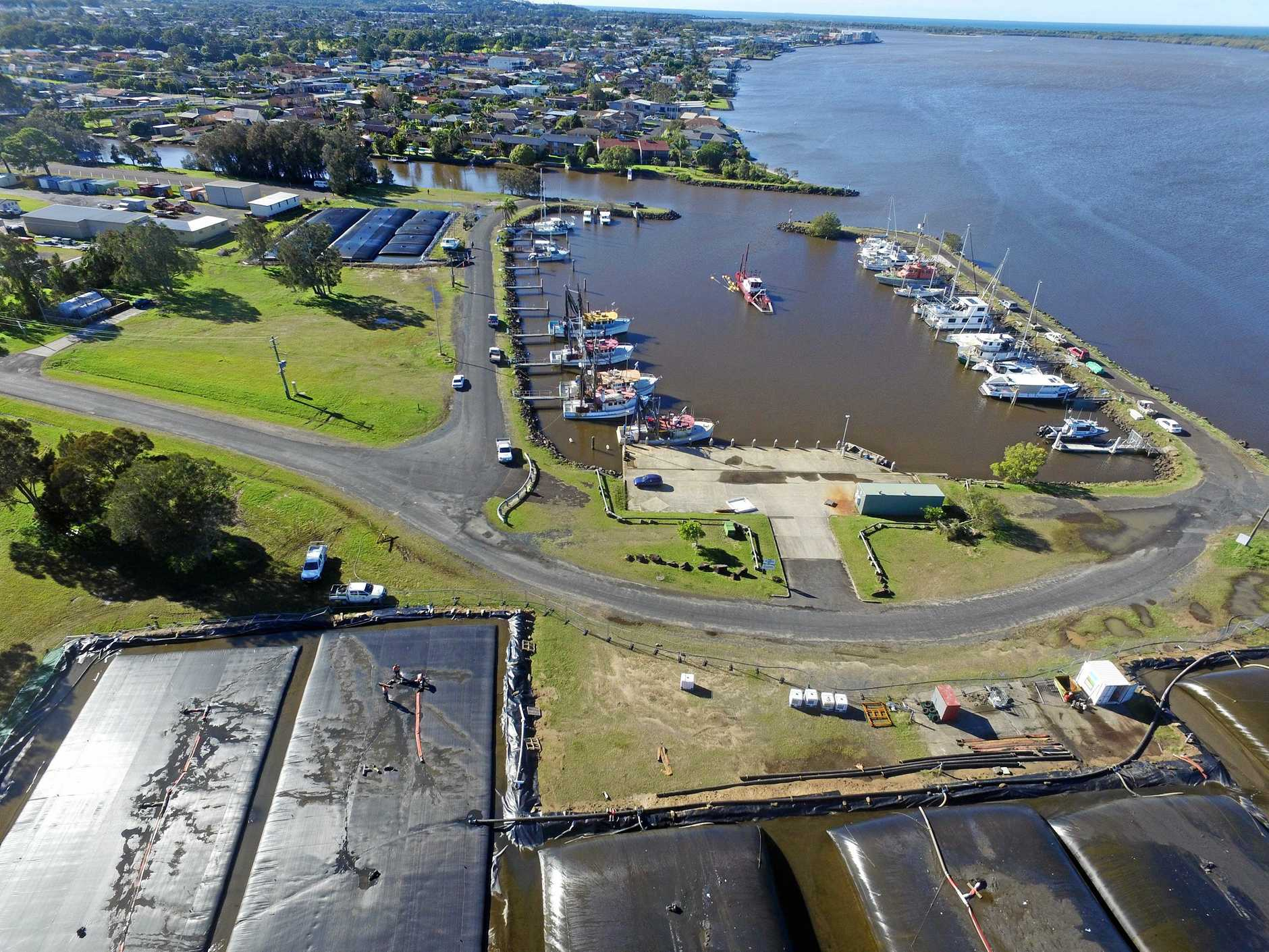 The Ballina boat harbour