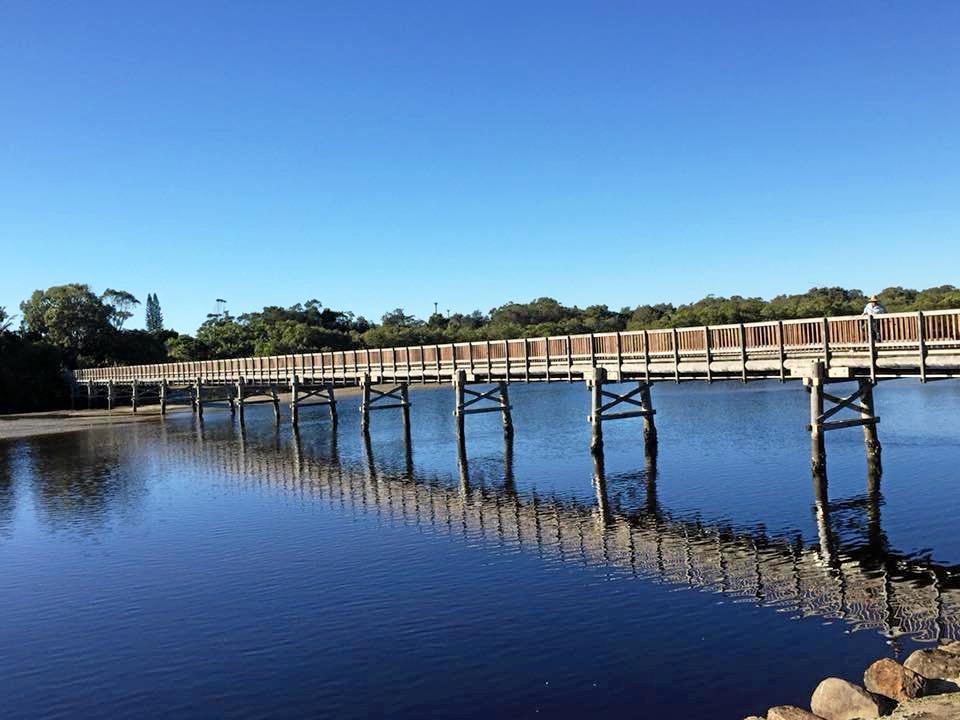 The Brunswick River footbridge taken by Debby Milgate.