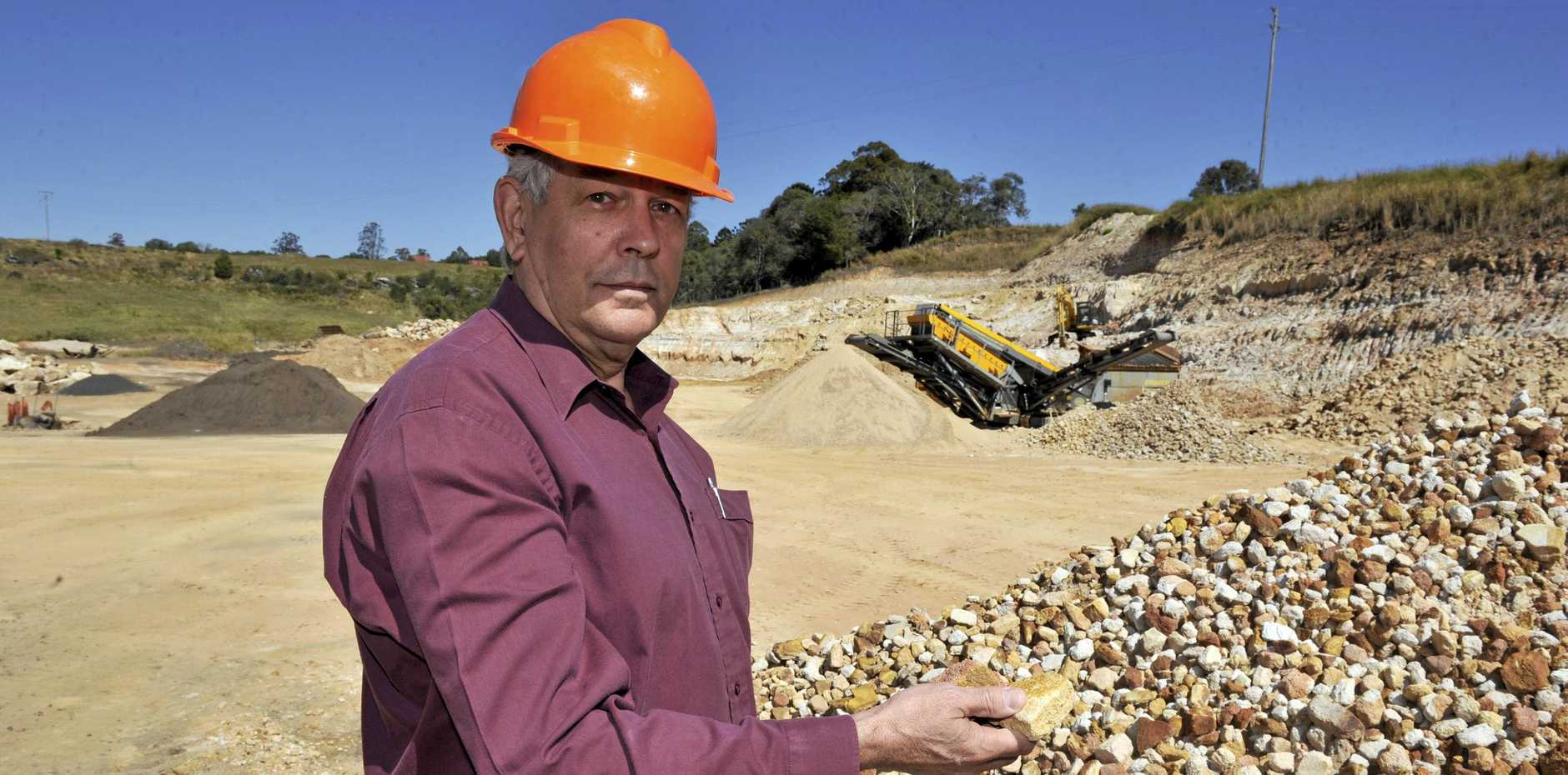 QUARRY SUSPENDS OPERATIONS: The NSW Department of Planning and Environment has confirmed that Champions Quarry owned by Jeff Champion, has informed them they will be suspending operations at the Wyrallah Road, Tucki, worksite.