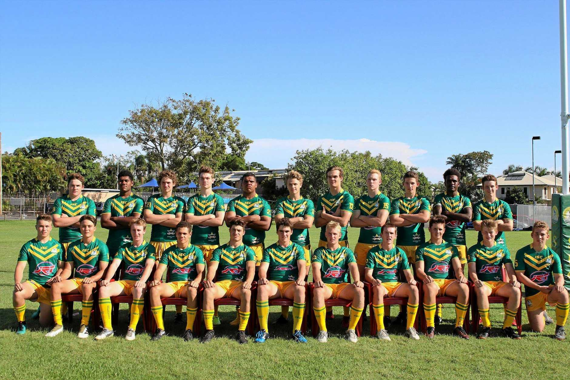 St Brendan's College 2019 First XIII squad.