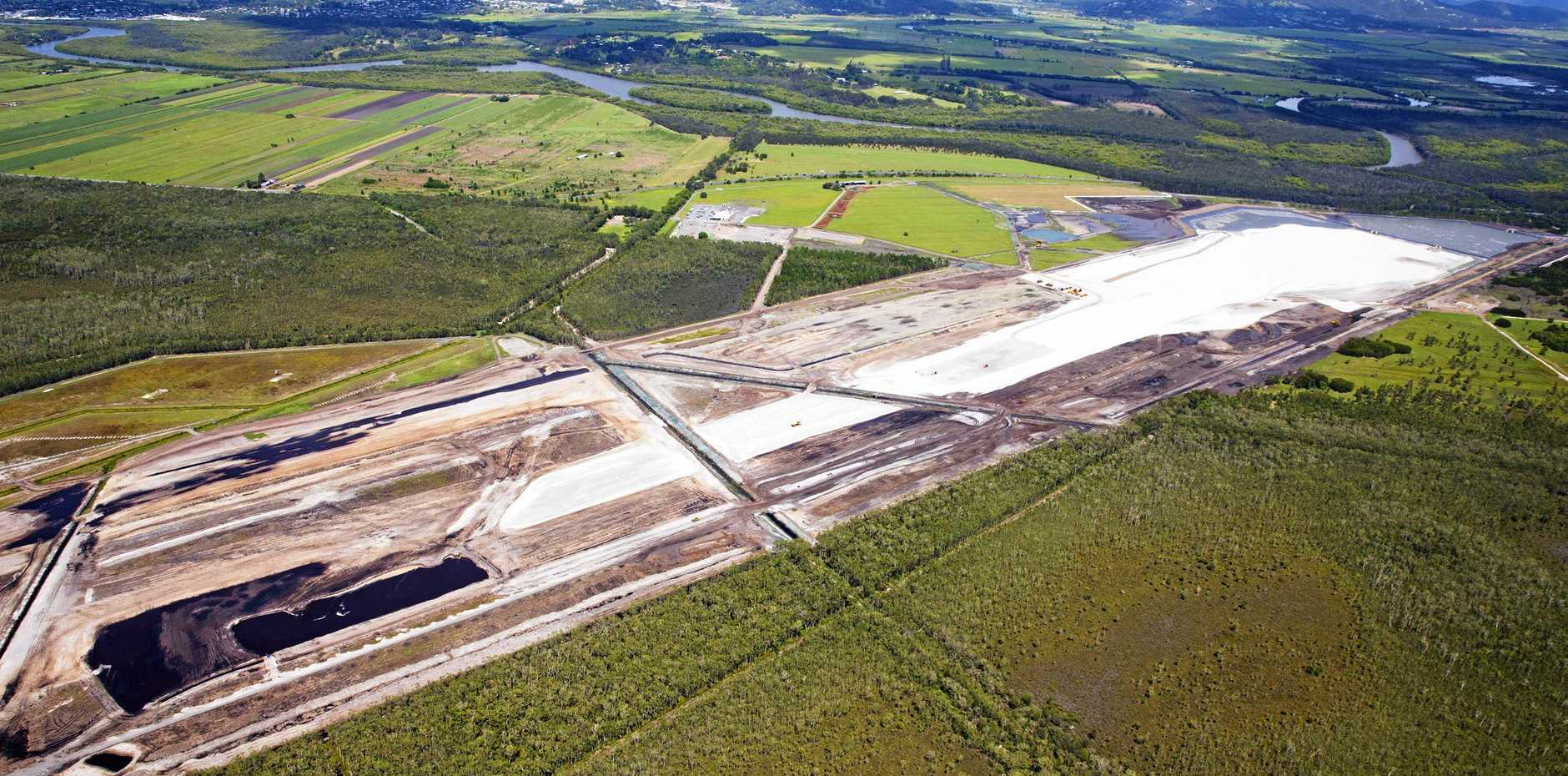Aerial view over construction of the East -West Runway at the Sunshine Coast Airport. Gympie region's food and agribusiness sectors are expected to reap the rewards of the expanding Sunshine Coast Airport and a special partnership with the Food and Agribusiness Network.
