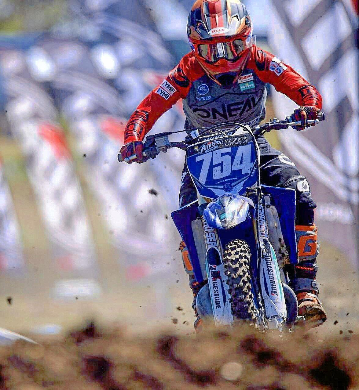 RACING ROCK STAR: Motocross racer Jayce Cosford rides to victory at the Sunshine State MX Series.