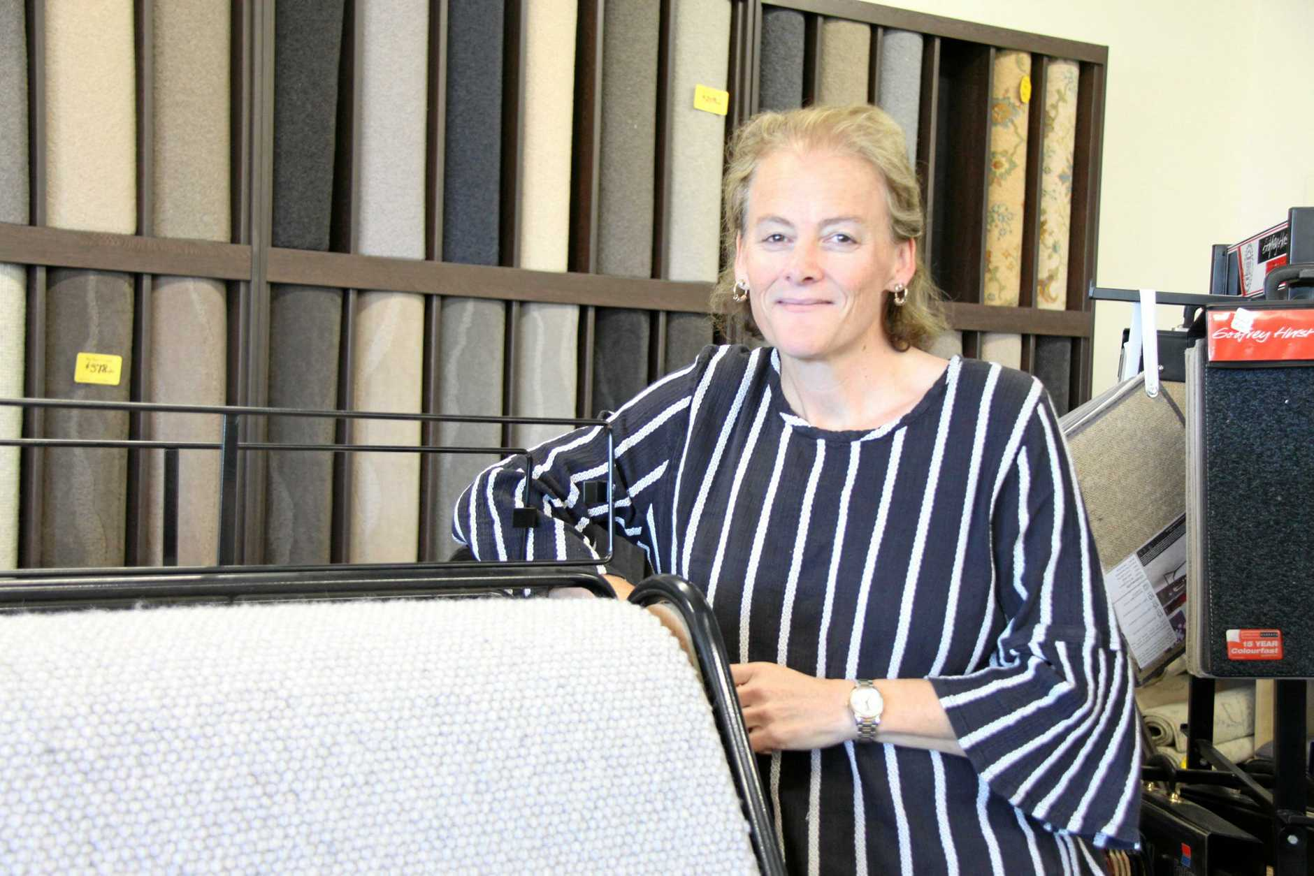LISMORE BUSINESS MOVE: Ray Towers Carpets manager, Letitia Towers said the family business will consolidate their Lismore business at the Mullumbimby premises from the end of June.