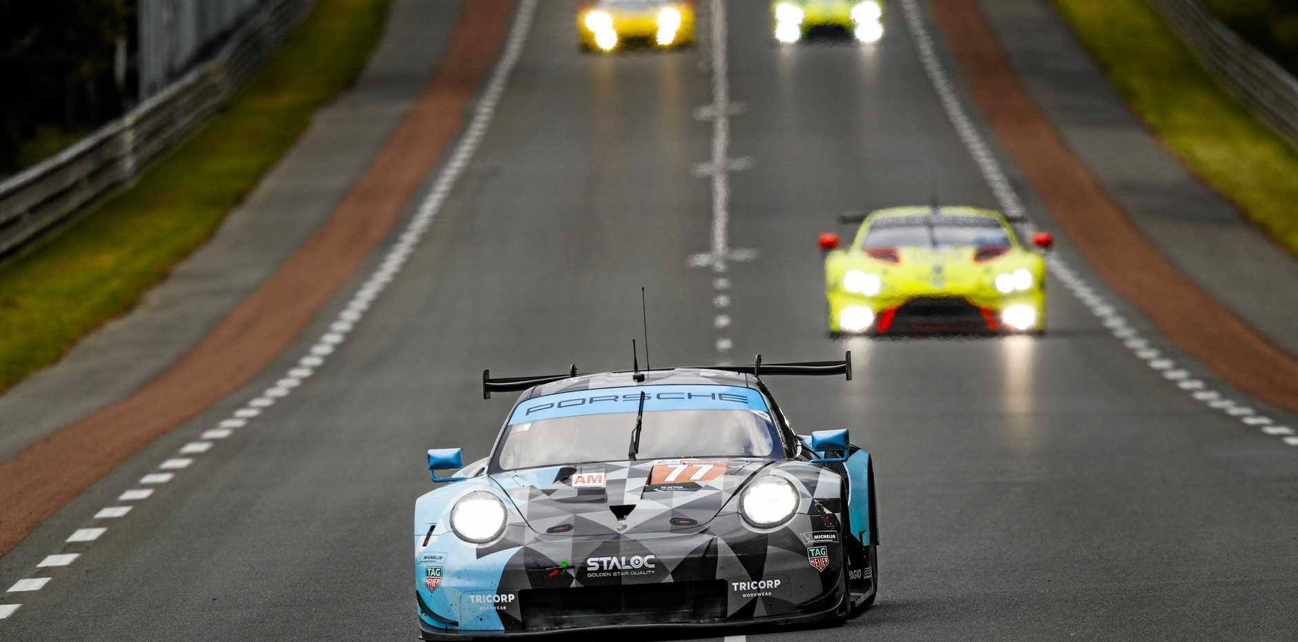 GO: Porsche 911 RSR, Dempsey Proton Racing (77) was driven by Julien Andlauer, Matt Campbell and Christian Ried in the 24 Hours of Le Mans.