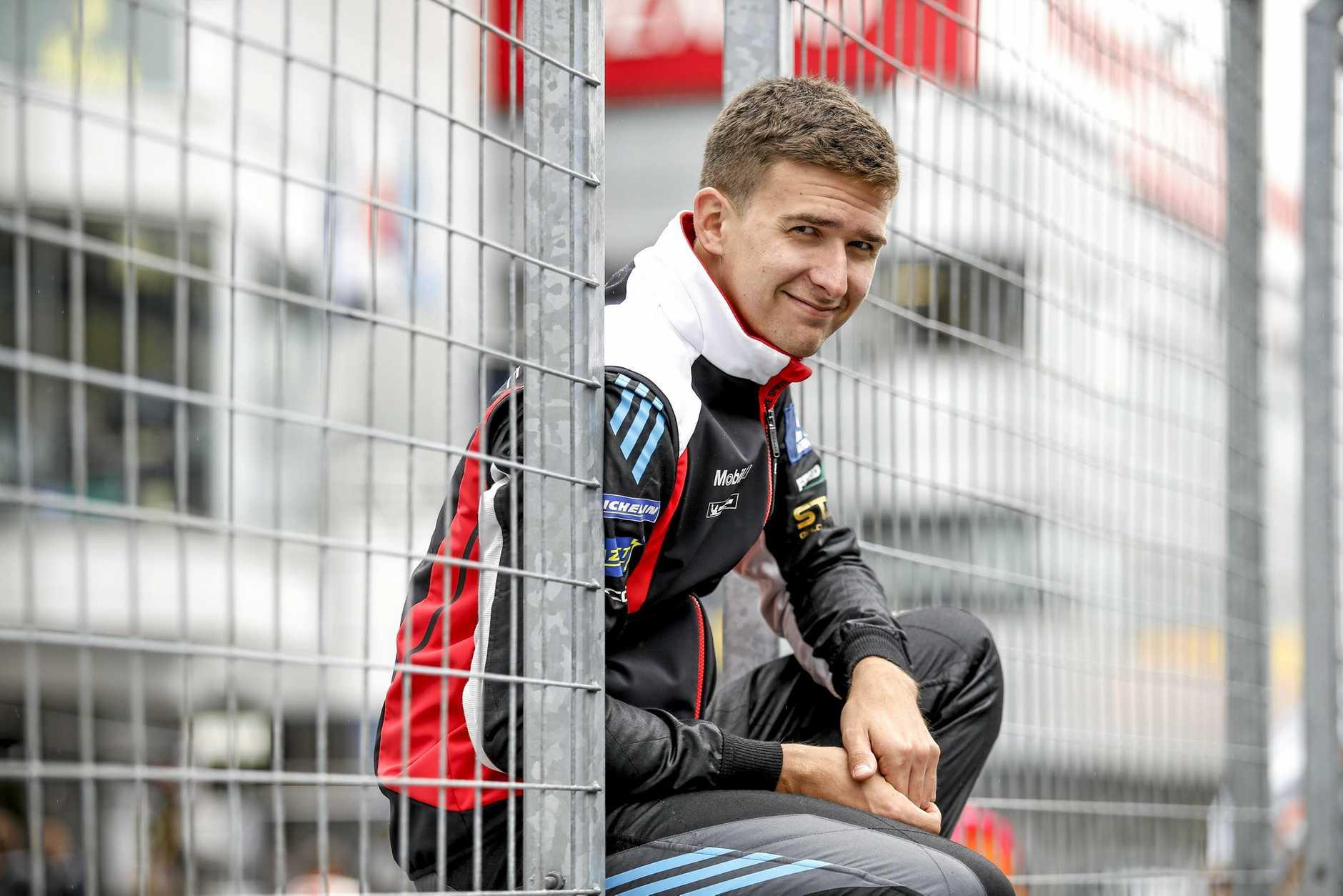 Warwick driver Matt Campbell in Europe.