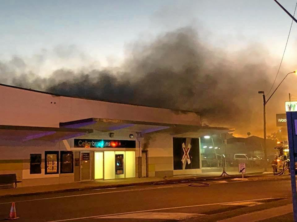 A fire broke out at the Walkerston Woolworths complex.