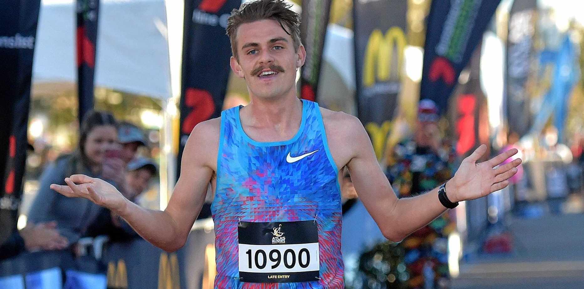 BIG FEAT: Sunshine Coast Marathon has been awarded Bronze Label status ahead of this year's event. Pictured is last year's half marathon winner Jack Rayner.