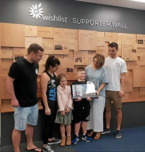 Young Ollie Ackerman, son of James Ackerman presented Wishlist with 14 new charging stations for hospitals across the Sunshine Coast to make the lives of families a little easier while their loved ones receive emergency treatment.