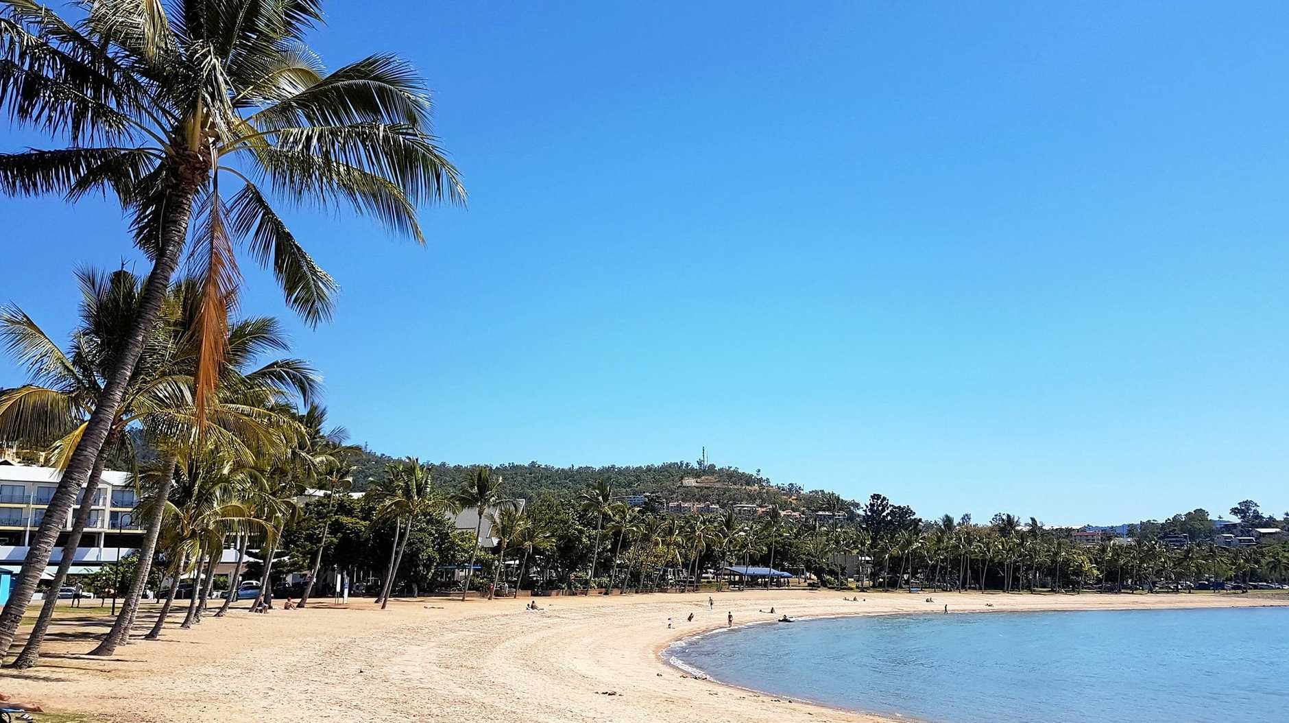 The Airlie Beach foreshore is set to be teaming with tourists today.