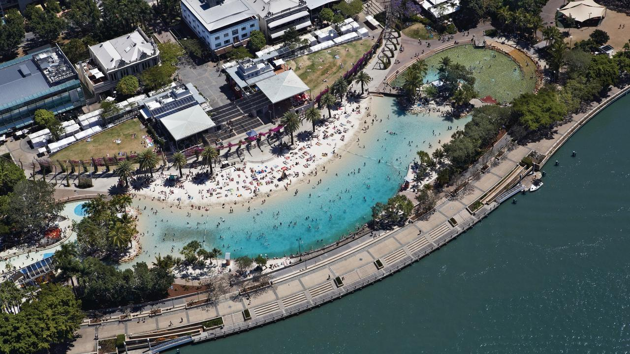 A South Bank icon, Streets Beach in the Brisbane CBD. Picture: Tourism and Events Queensland