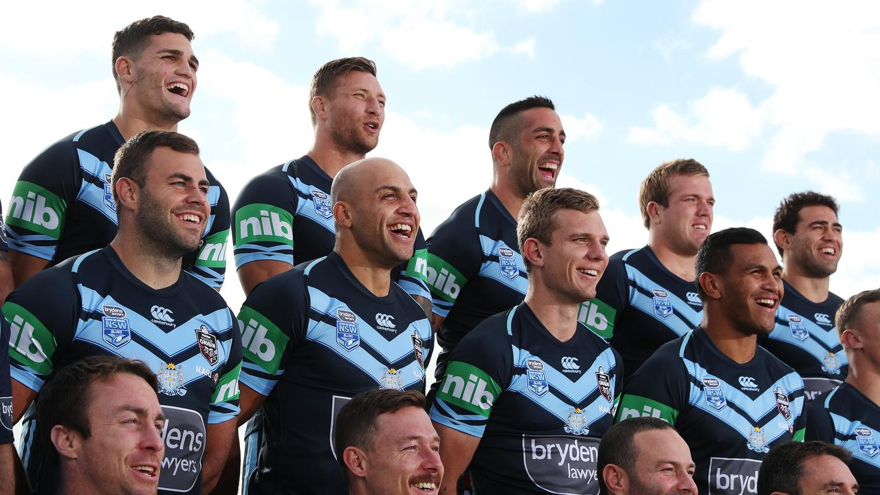 NSW's Blake Ferguson during the NSW State of Origin team photo at Scarborough beach ahead of game 2 in Perth. Picture: Brett Costello