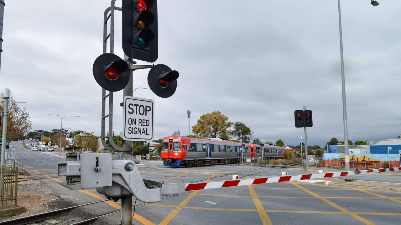 A railway crossing.