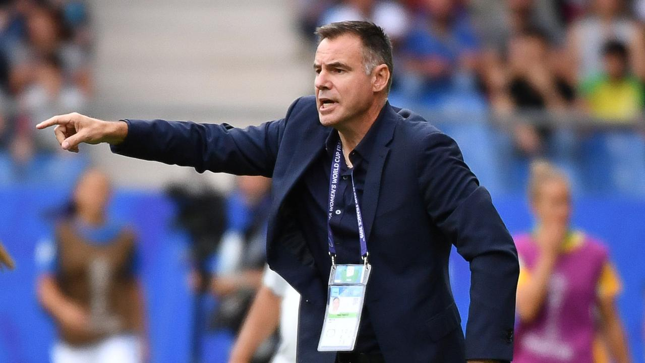 Ante Milicic has pointed out the Matildas' defensive frailties. Picture: AFP