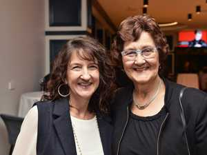 Linda McKay (left) and Shirley Thompson at Bugsy